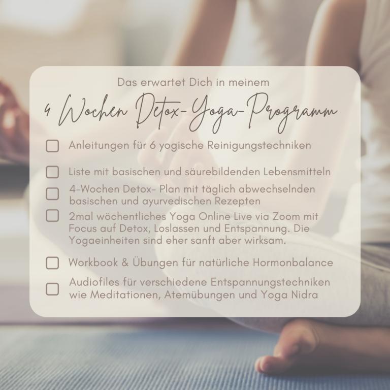 Detox Yoga Gruppenprogramm